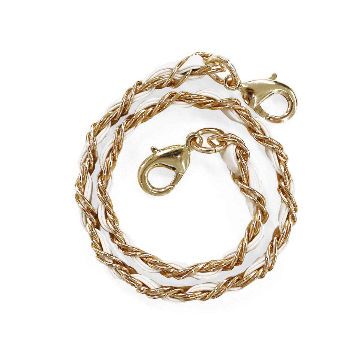 ストラップ abbi Leather Chain Short Strap(アビィ レザーチェーン ショートストラップ)30cm ショートサイズ ハンドバッグ風