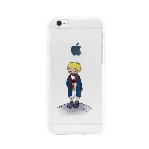 iPhone6s/6 ケース Dparks ソフトクリアケース リトルプリンス バラ キツネ (ディーパークス) アイフォン カバー バータイプ