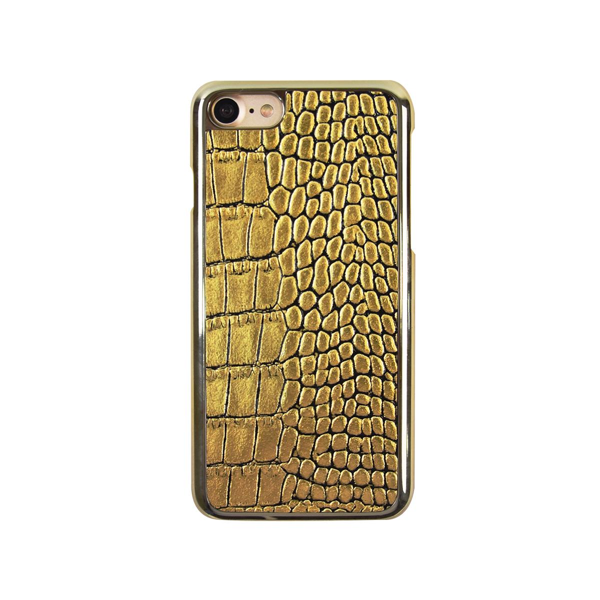 iPhone SE 第2世代 se2 ケース iPhone 8/7ケース GAZE Gold Croco Bar(ゲイズ ゴールドクロコバー)アイフォン 本革 カバー