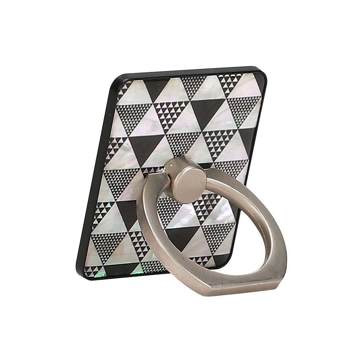 スマホリング ikins 天然貝 スマートリング(アイキンス)落下防止 ホールドリング 指輪型 バンカーリング