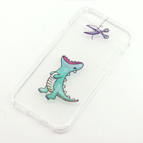 iPhone6s/6 ケース Dparks ソフトクリアケース ファンタジーはらぺこザウルス(ディーパークス)アイフォン カバー バータイプ