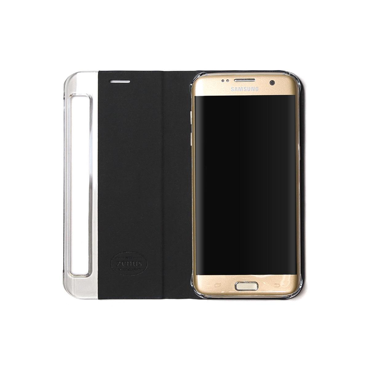 Galaxy S7 edge ケース 手帳型 ZENUS Metallic Diary 2(ゼヌス メタリックダイアリー2)ギャラクシー エスセブン エッジ