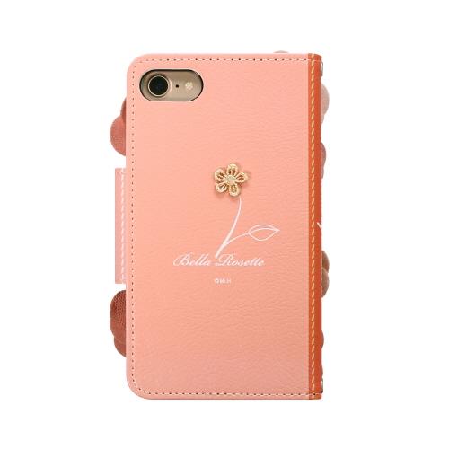 iPhone SE 第2世代 se2 ケース iPhone 8/7ケース 手帳型 Mr.H Bella Rosette Diary ピンク(ミスターエイチ ベラロゼッタ ダイアリー)アイフォン カバー 花柄 フラワー