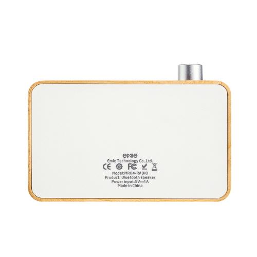 Bluetooth ワイヤレス スピーカー EMIE Radio(エミー ラジオ)小型 ブルートゥース 高音質 コンパクトスピーカー