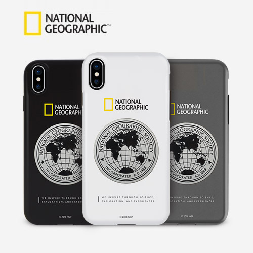 iPhone SE 第2世代 se2 ケース iPhone 11 Pro / iPhone 11 Pro Max / iPhone 11 ケース iPhone XS/X ケース iPhone XR ケース iPhone8/7 ケース カバー iPhone8Plus/7Plus ケース National Geographic Global Seal Metal-Deco Case