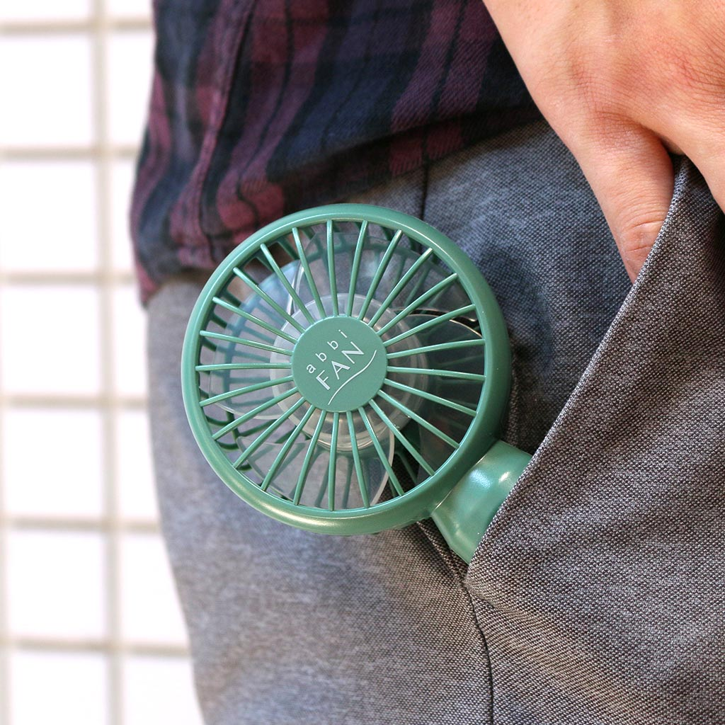 abbi Fan mini 超小型ポータブル扇風機【約78gの超軽量ハンディファン】