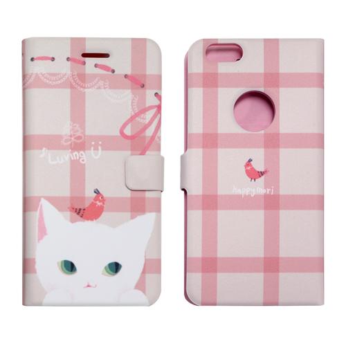 iPhone6s ケース 手帳型 Happymori  Cat Couple Diary(ハッピーモリ キャットカップルダイアリー)アイフォン iPhone6