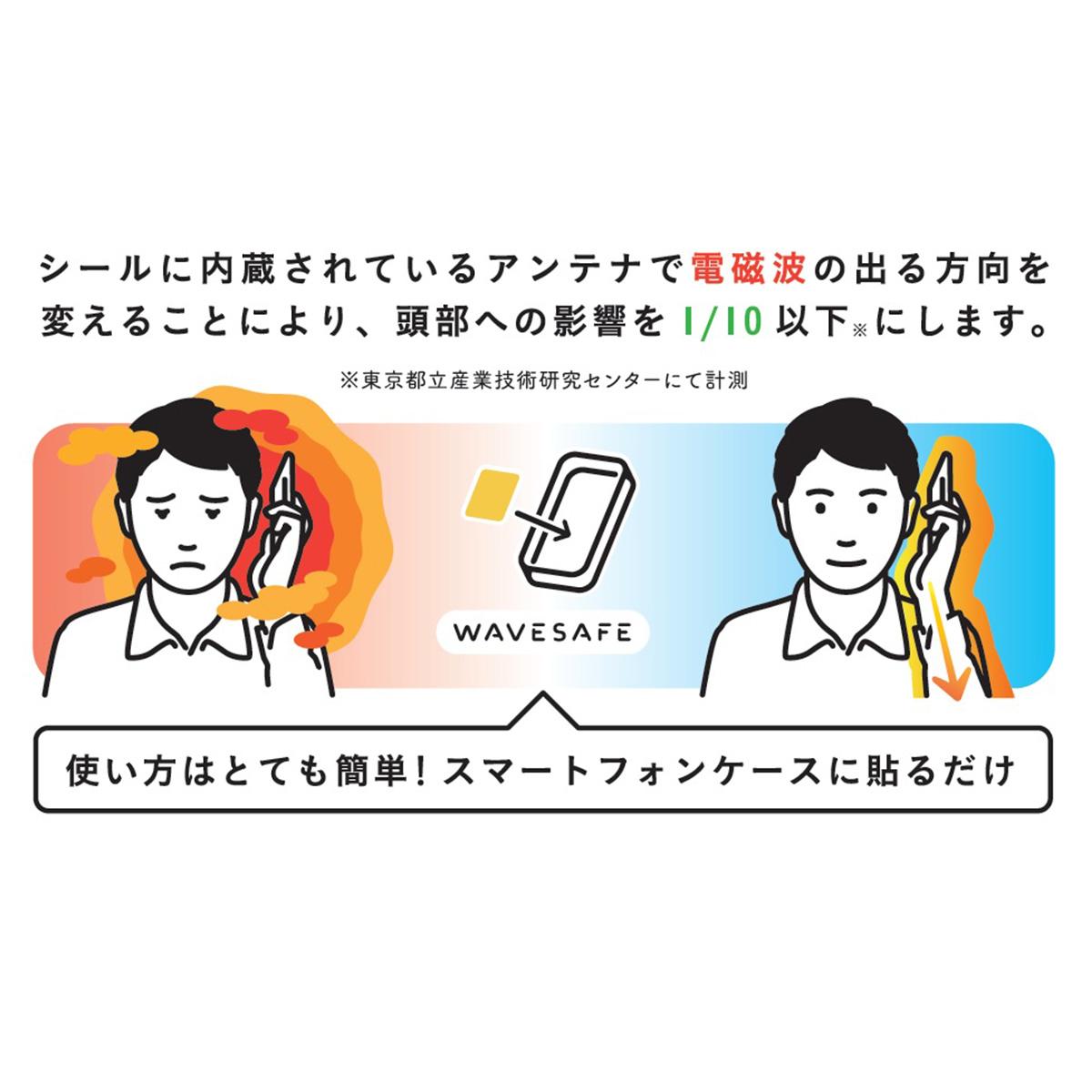 スマホ 電磁波防止 シール WAVESAFE(ウェーブセーフ)スマートフォン 電磁波カット 電磁波防止 電磁波シールド