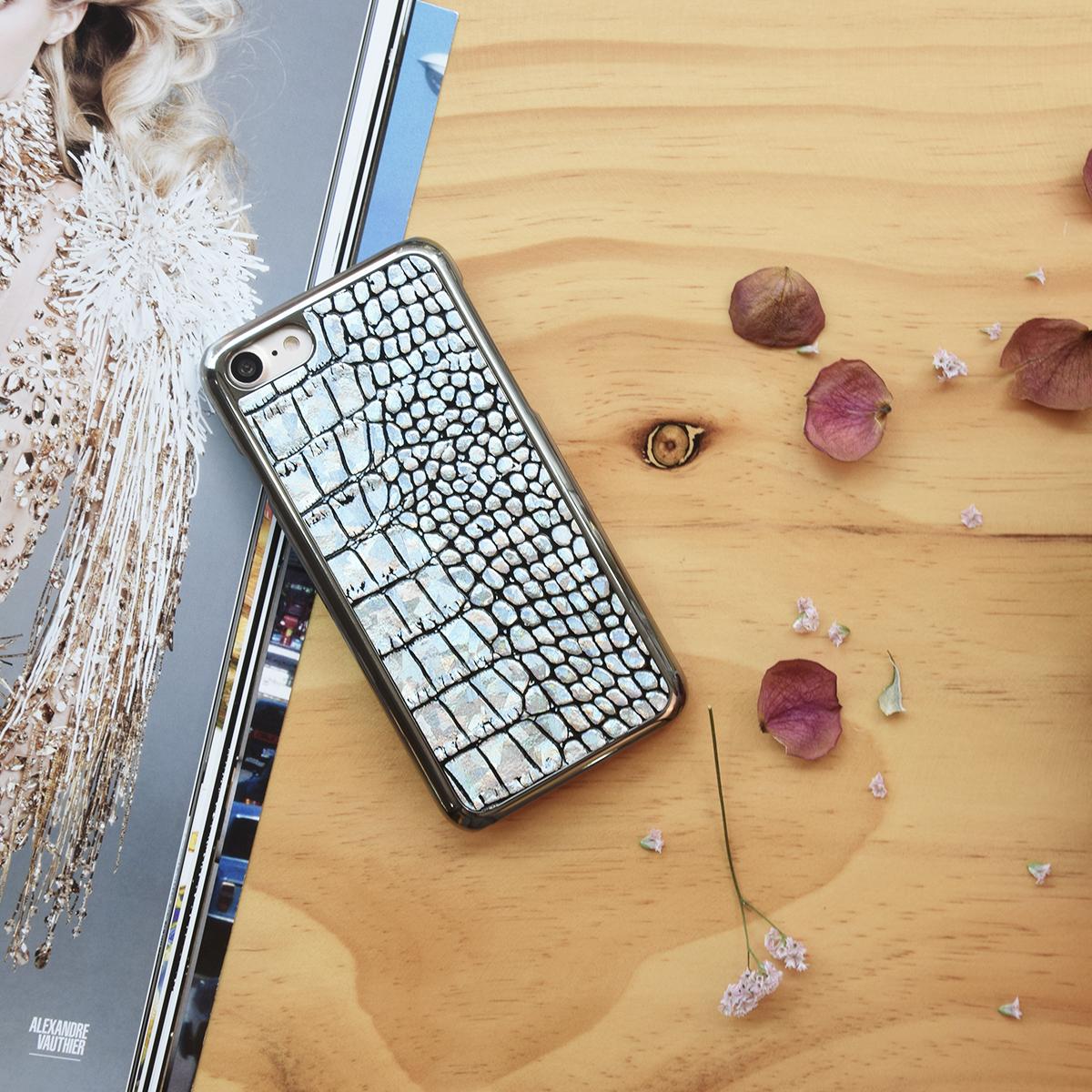 iPhone SE 第2世代 se2 ケース iPhone 8/7ケース GAZE Hologram Croco Bar(ゲイズ ホログラムクロコバー)アイフォン 本革 カバー