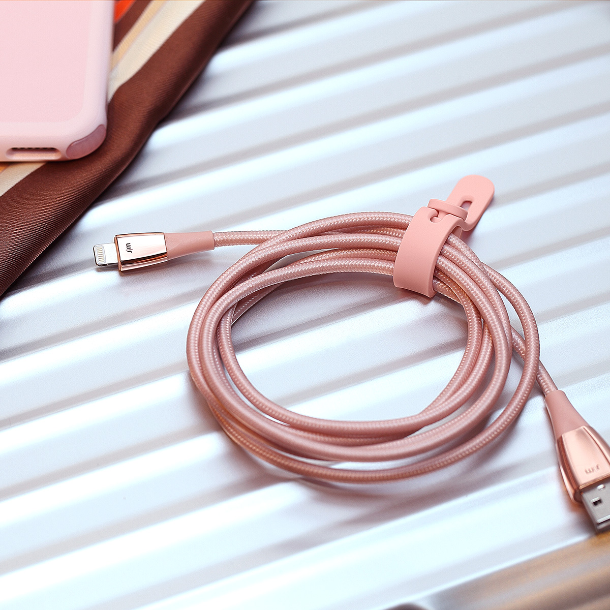 MFi認証 ライトニングケーブル Just Mobile Zin Cable(ジャストモバイル ジンケーブル)Made for iPod / iPhone / iPad 充電 データ転送 Lightning デュポンケブラーファイバー使用