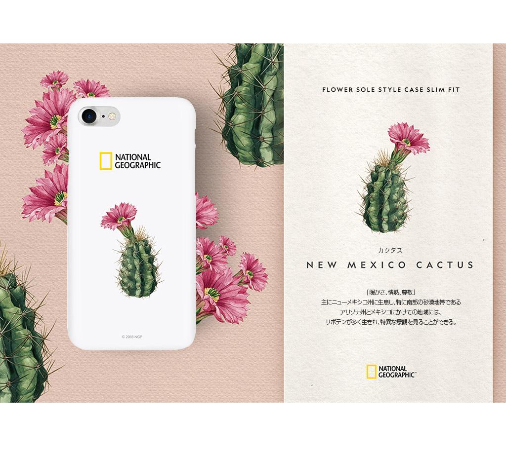 iPhone SE 第2世代 se2 ケース iPhone 8/7ケース National Geographic Flower Sole Style Case Slim Fit(ナショナル ジオグラフィック ラワーソルスタイルケース スリムフィット)アイフォン カバー スマホケース ナショジオ