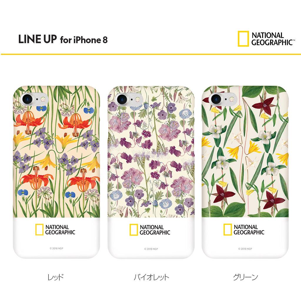 iPhone SE 第2世代 se2 ケース iPhone 8/7ケース National Geographic Flower Frame Style Case Slim Fit(ナショナル ジオグラフィック フラワーフレームスタイルケース スリムフィット)アイフォン カバー スマホケース ナショジオ