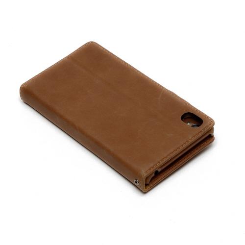 docomo au softbank【Xperia Z3 ケース】ZENUS Vintage Diary (ビンテージダイアリー)Vintage Brown