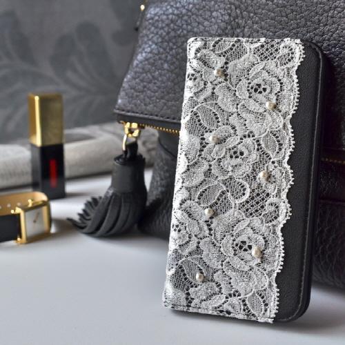 iPhone6s ケース 手帳型 abbi Lace diary(アビィ レースダイアリー)アイフォン iPhone6