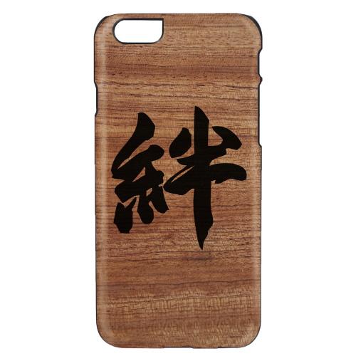 iPhone6s/6 天然木 香るケース「絆」カバー Man&Wood BLACK LABEL(マンアンドウッド ブラックレーベル)絆