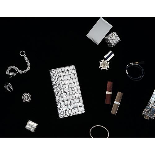 Xperia XZ Premium ケース 本革 手帳型 GAZE Hologram Croco Diary(ゲイズ ホログラムクロコダイアリー)エクスペリア エックスゼット プレミアム カバー SO-04J