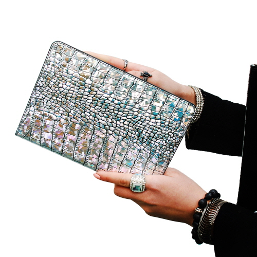 【iPad mini3/2/1 ケース】 GAZE Hologram Croco Diary (ゲイズ ホログラムクロコダイアリー)