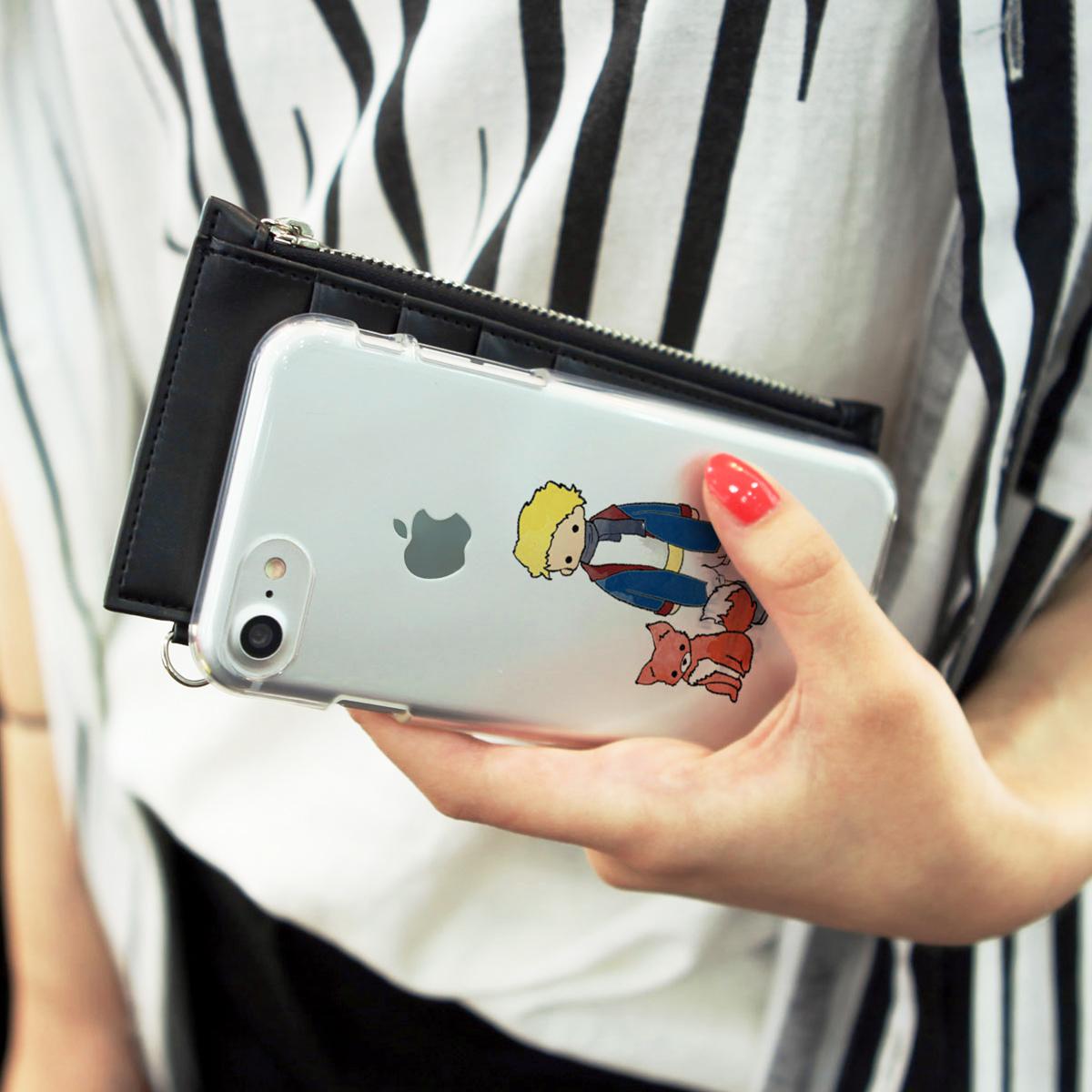 iPhone 8 / 7ケース Dparks ソフトクリアケース リトルプリンス バラ キツネ (ディーパークス) アイフォン カバー バータイプ