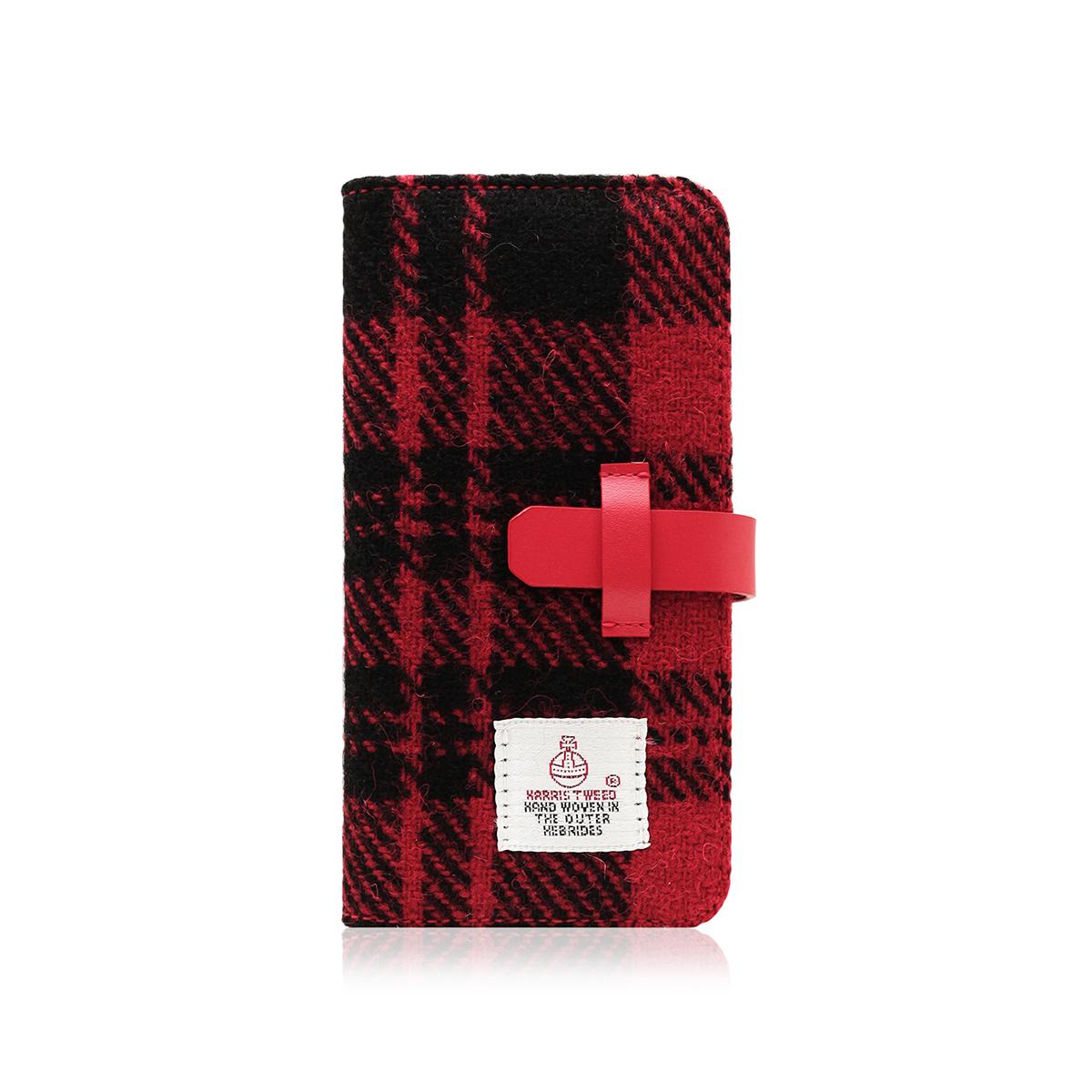 iPhone 8 Plus / 7 Plus ケース 手帳型 SLG Design Harris Tweed Diary (エスエルジーデザイン ハリスツイードダイアリー)アイフォン 本革 カバー
