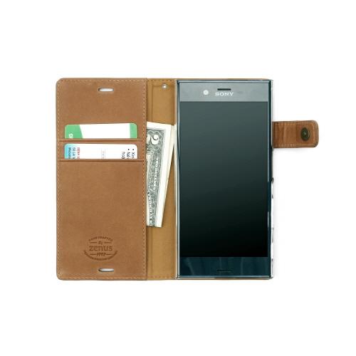 Xperia XZs / Xperia XZ ケース カバー 手帳型 ZENUS Vintage Diary(ゼヌス ビンテージダイアリー)エクスペリア エックスゼット SO-01J SOV34 601SO 本革 ストラップ付き