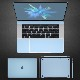 MacBook Pro 15インチ(2016,Touch Bar搭載モデル)対応 液晶保護&ボディ保護 フィルム セット マックブック プロ