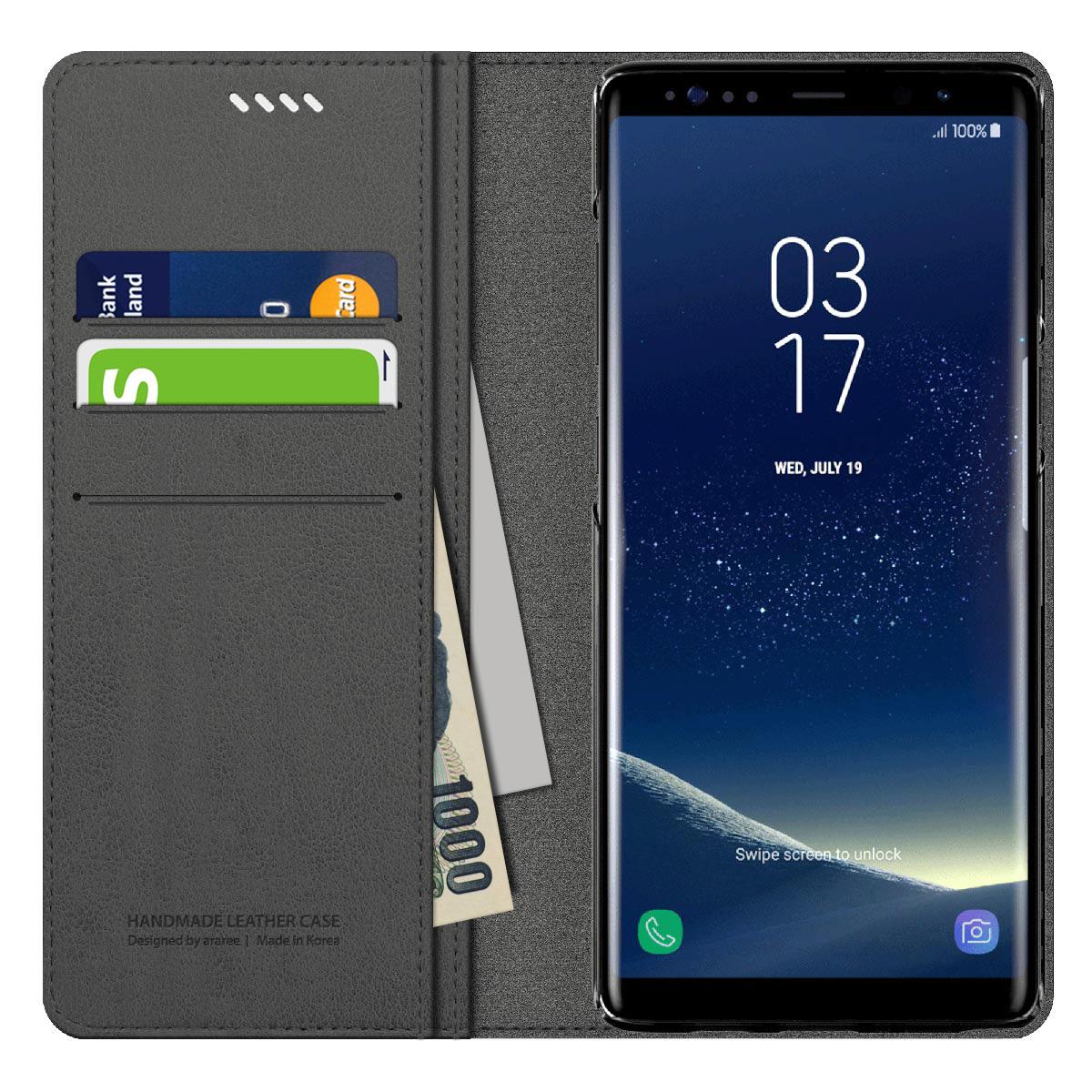 Galaxy Note9 ケース Galaxy Note8 ケース 手帳型 araree MUSTANG DIARY(アラリー マスタング ダイアリー)ギャラクシー ノート カバー SC-01L SCV40 SC-01K SCV37 プレミアム素材