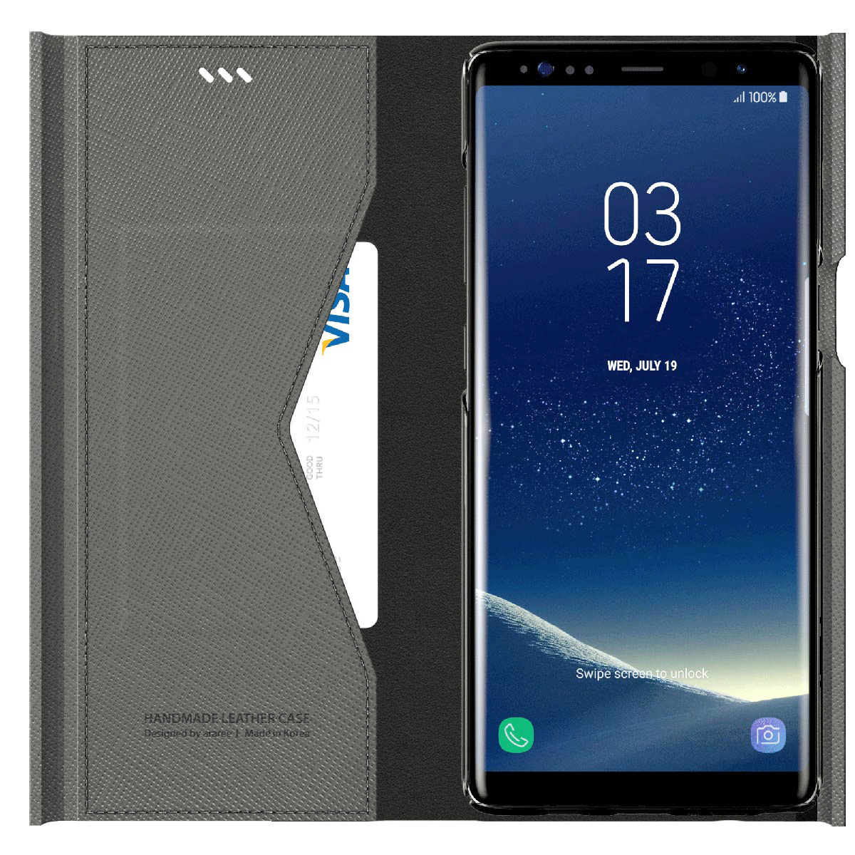 Galaxy Note9 ケース Galaxy Note8 ケース 手帳型 araree BONNET STAND(アラリー ボンネット スタンド)ギャラクシー ノート カバー マグネットクロージング スタンド機能付き SC-01L SCV40 SC-01K SCV37