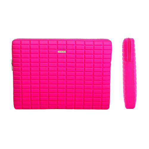 A103-5P おしゃれなエンボスタイプのネオプレンケース!<br>abbi MacBook Pro15インチ用 ネオプレンインナーケース ピンク