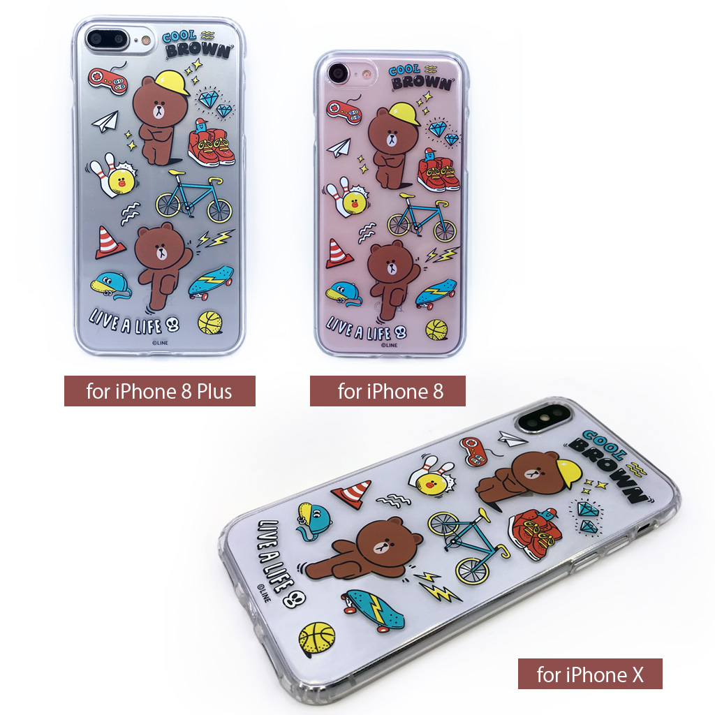 iPhone SE 第2世代 se2 ケース iPhone XS/X ケースiPhone8 ケース iPhone7 ケース カバー iPhone8Plus iPhone7Plus クリアケース LINE FRIENDS MY FAVORITE THINGS(ラインフレンズ マイフェイバリットシングス)アイフォン スマホケース