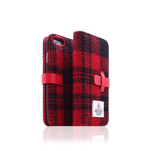 iPhone6s/6 ケース 手帳型 SLG Desig Harris Tweed Diary(エスエルジーデザイン ハリスツイードダイアリー)アイフォン 本革