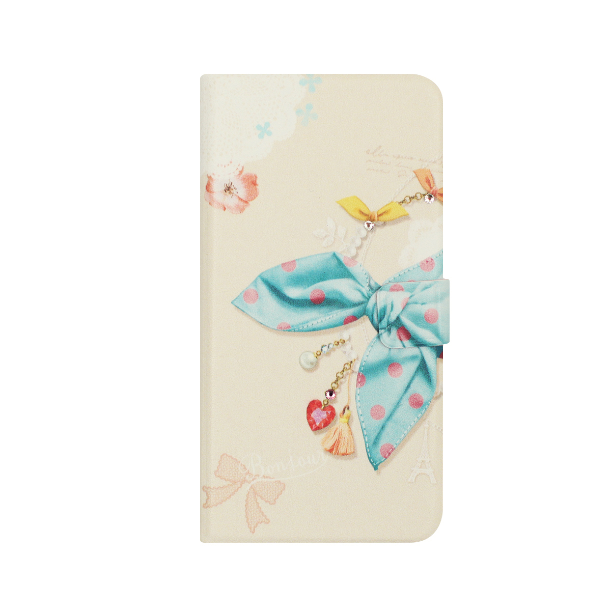 iPhone 8 / 7ケース 手帳型 Happymori Dot Scarf Diary(ハッピーモリ ドットスカーフダイアリー)アイフォン カバー