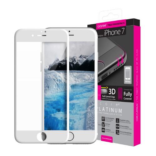 iPhone 8/7 強化ガラスフィルム araree Core Platinum(アラリー コアプラチナム)アイフォン 全面保護 液晶保護