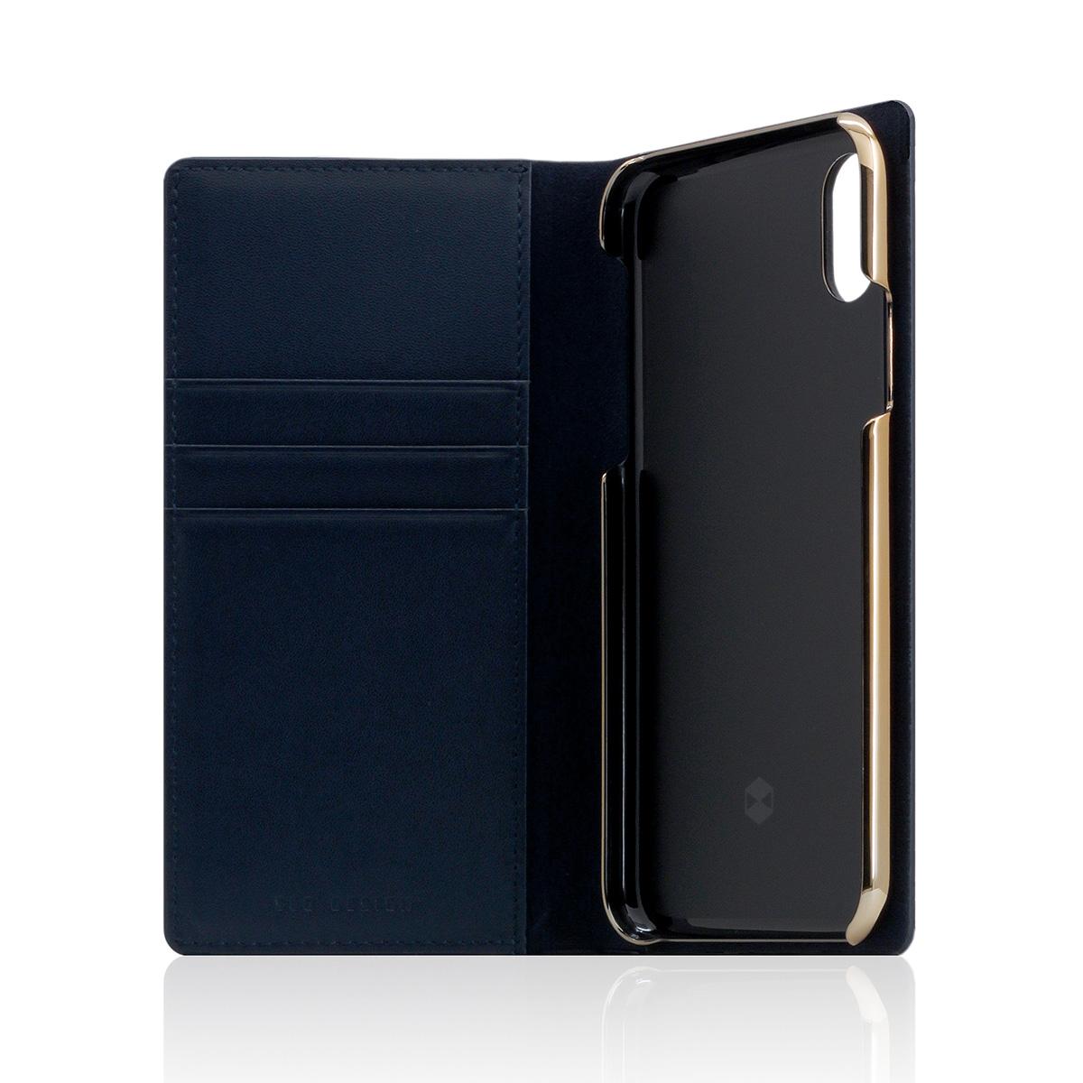 iPhone 11 ケース iPhone XS / X ケース iPhone XR ケース SLG Design Carbon Leather Case 手帳型 本革 (エスエルジー カーボンレザーケース)アイフォン カバー レザー