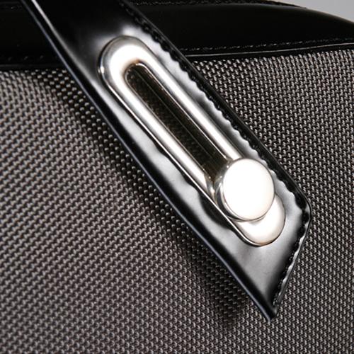 B6407 パソコンバッグ イタリアンデザイン!ユニセックス仕様PC対応ブリーフケース<br>abbiWhitney(ホイットニー) グレー