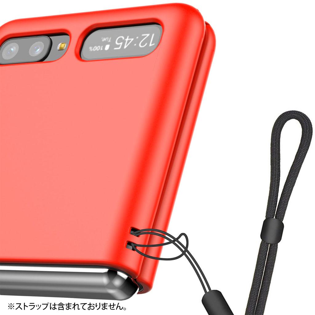 Galaxy Z Flip | Z Flip 5G ケース araree Aero (アラリー エアロ) ギャラクシー ゼット フリップ カバー SCV47 SCG04 傷に強い ストラップホール付き 背面カバー型