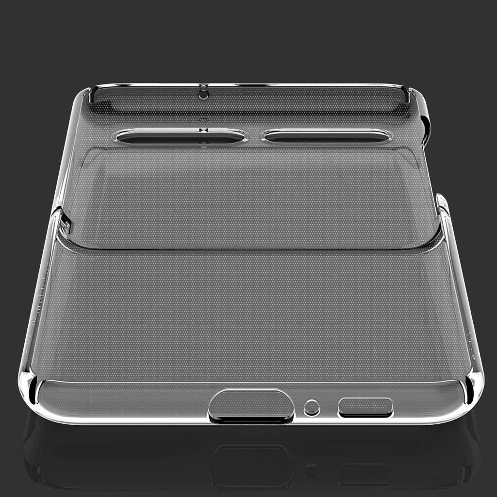 Galaxy Z Flip ケース araree Nu:kin (アラリー ヌーキン) ギャラクシー ゼット フリップ カバー SCV47 透明 クリアケース 傷に強い ストラップホール付き 背面カバー型