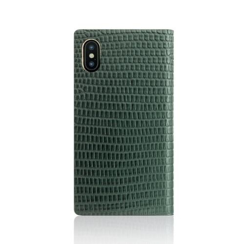 iPhone XS / X ケース SLG Design Lizard Case 手帳型 本革 (エスエルジー リザードケース)アイフォン カバー レザー