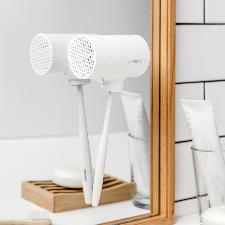 CLEAND 歯ブラシ除菌 乾燥機 T-dryer [ UV除菌器 深紫外線 コードレス USB Type-C 充電式 壁掛け可能 ]