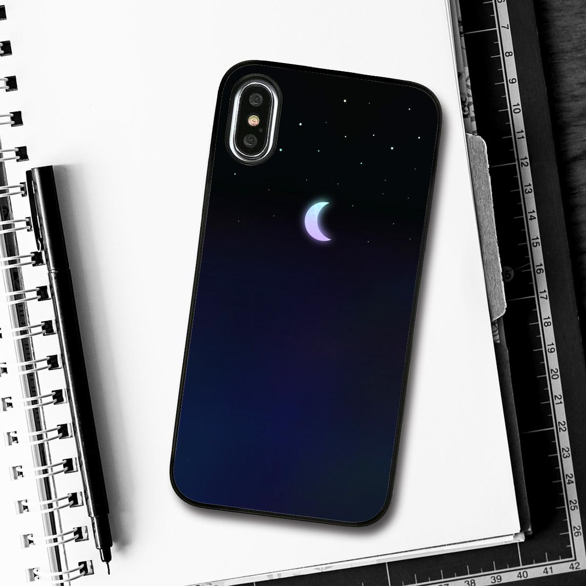 iPhone XS / X ケース Dparks Twinkle Case ミニムーン(ディーパークス トゥインクルケース)アイフォン カバー ホログラム
