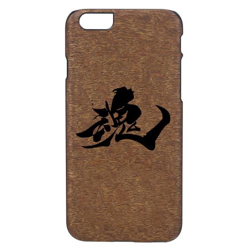 iPhone6s/6 天然木 香るケース「魂」カバー Man&Wood BLACK LABEL(マンアンドウッド ブラックレーベル)魂