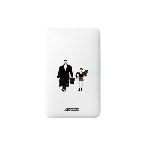 モバイルバッテリー 5000mAh ケーブル内蔵型 Type-C iPhone Android USB 対応 スマートフォン 充電器 Dparks (ディーパークス) スマホ 充電器 大容量 microUSB 充電ケーブル iQOS対応 アイコス モバイル充電器