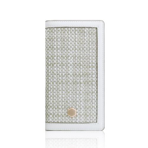 iPhone XS / X ケース SLG Edition Calf Skin Leather Diary 手帳型 (エスエルジー エディション カーフスキンレザーダイアリー)本革 ファブリック アイフォン カバー