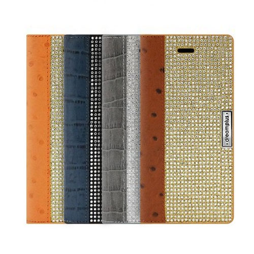 【iPhone SE 第2世代 (SE2) / 8 / 7 ケース】DreamPlus Wannabe Leathrer Diary【手帳型 / 本革 / ラインストーン】