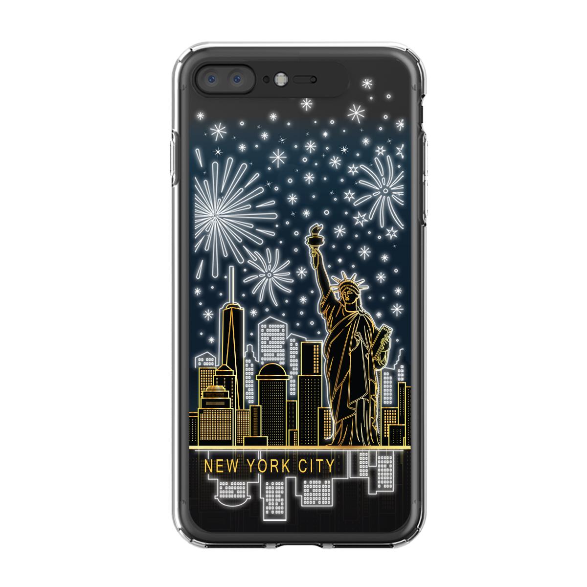 iPhone 8 Plus/7 Plus ケース LIGHT UP CASE Soft Lighting Clear Case Landmark(ライトアップケース ソフトライティングクリアケース ランドマーク)光る アイフォン カバー5.5インチ