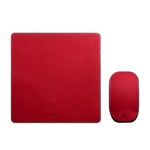 Magic Mouse ケース カバー & マウスパッド セット 本革 収納ケース SLG Design Minerva Box Leather Pouch & Pad セット(ミネルバボックスレザー)マジックマウス 専用 レザー ポーチ レザー パッド 牛革