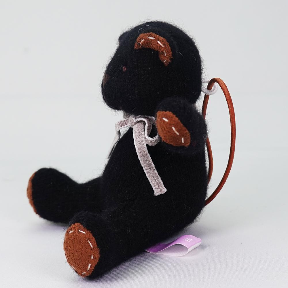 高級カシミヤ製ミニ・テディベア。黒檀色のエボニー・ミニベア【12cm】