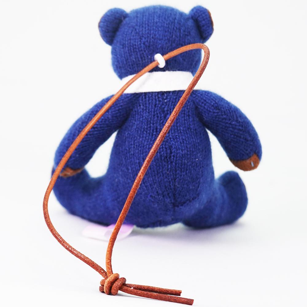 高級カシミヤ製ミニ・テディベア。憧れの紺色ユニフォーム姿のネイビー・ユニフォーム・ミニベア【12cm】