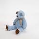 高級カシミヤ製テディベア。晴れた空のような淡いブルー色のスカイ・ジャイアントベア【60cm】