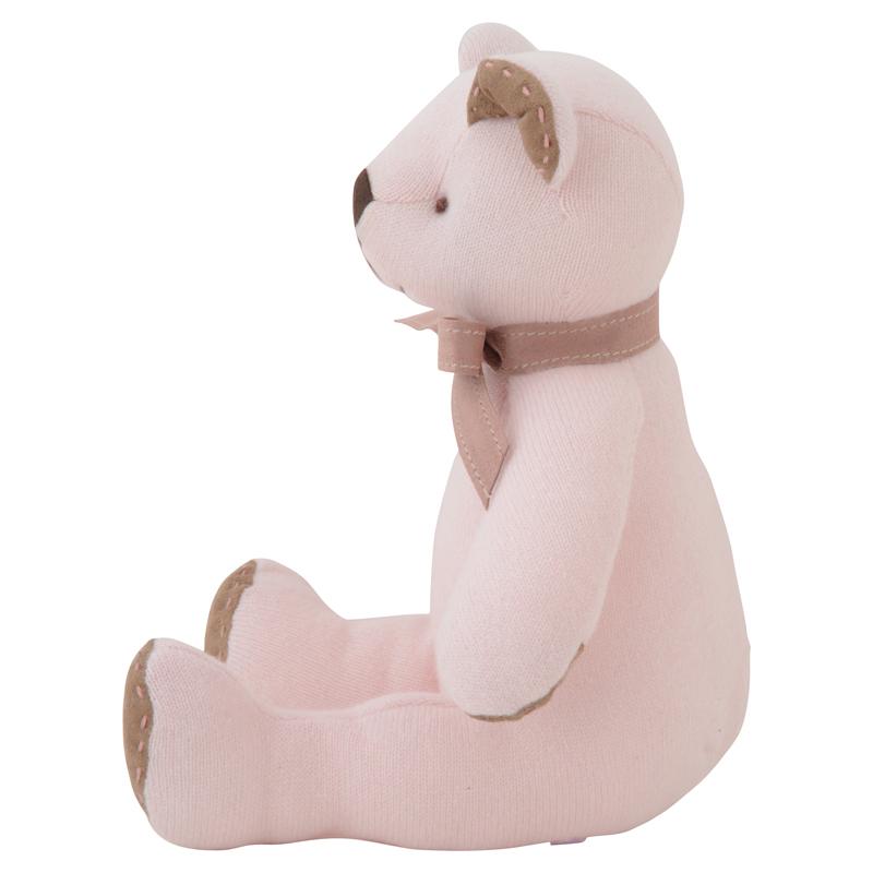 高級カシミヤ製テディベア。上品な淡いピンク色のローズ・パパベア【30cm】