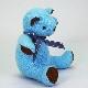 高級カシミヤ製ベビー・テディベア。NYブルー色のティファニー・ベビーベア【15cm】